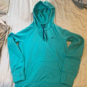 Light blue Therma-Fit Nike hoodie